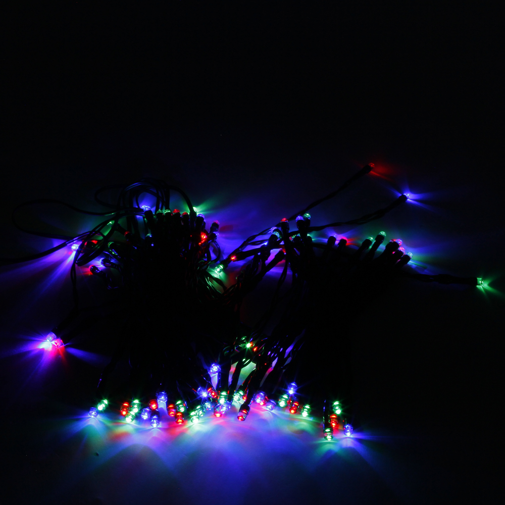 High Quality 200LED Waterproof Christmas Decoration Colorful Light Solar Power LED String Light ...
