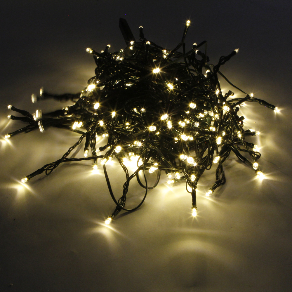 High Quality 200LED Waterproof Christmas Decoration Warm White Light Solar Power LED String ...