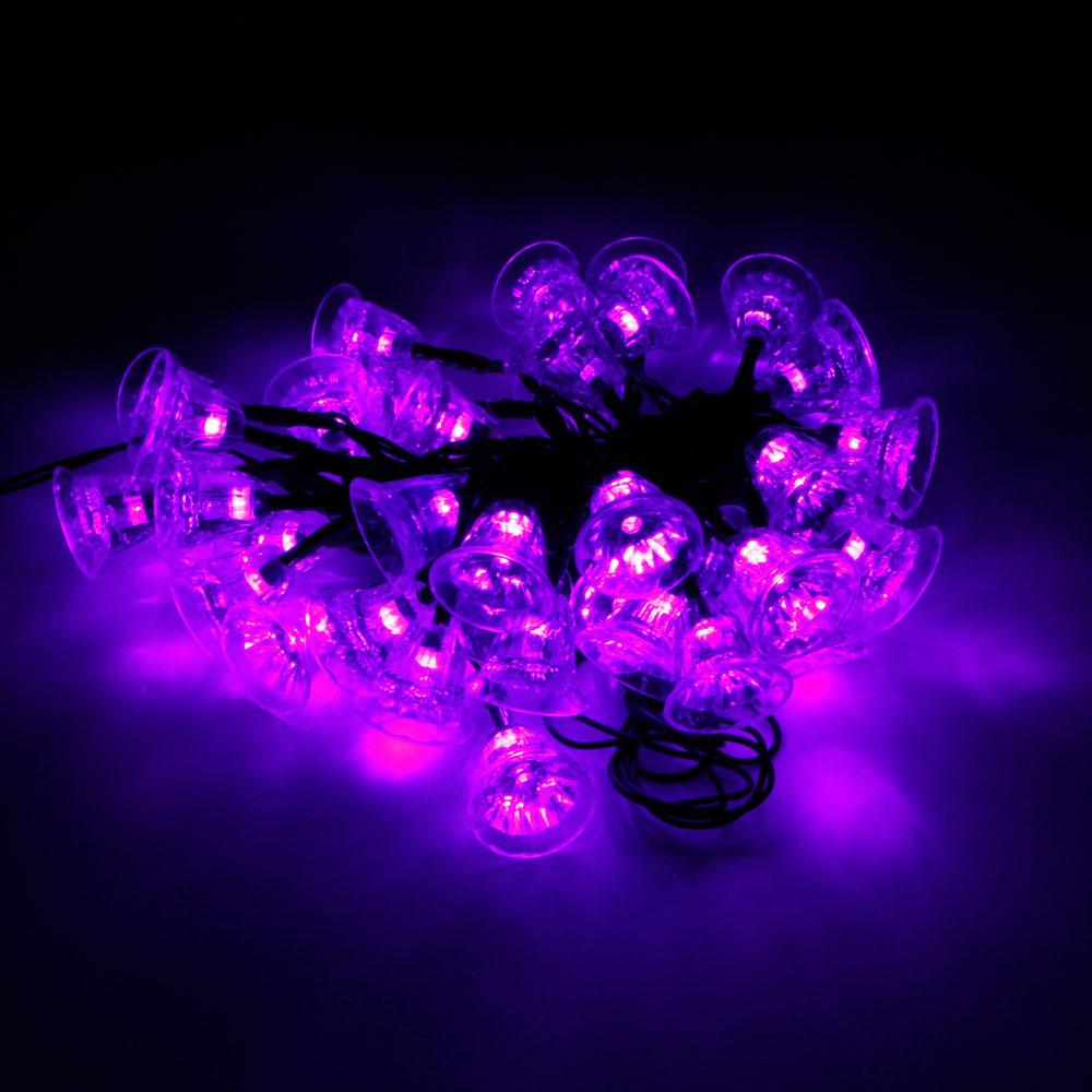 MarSwell 40-LED IP65 Waterproof Purple Light Christmas Solar LED String Light - Laserpointerpro.com