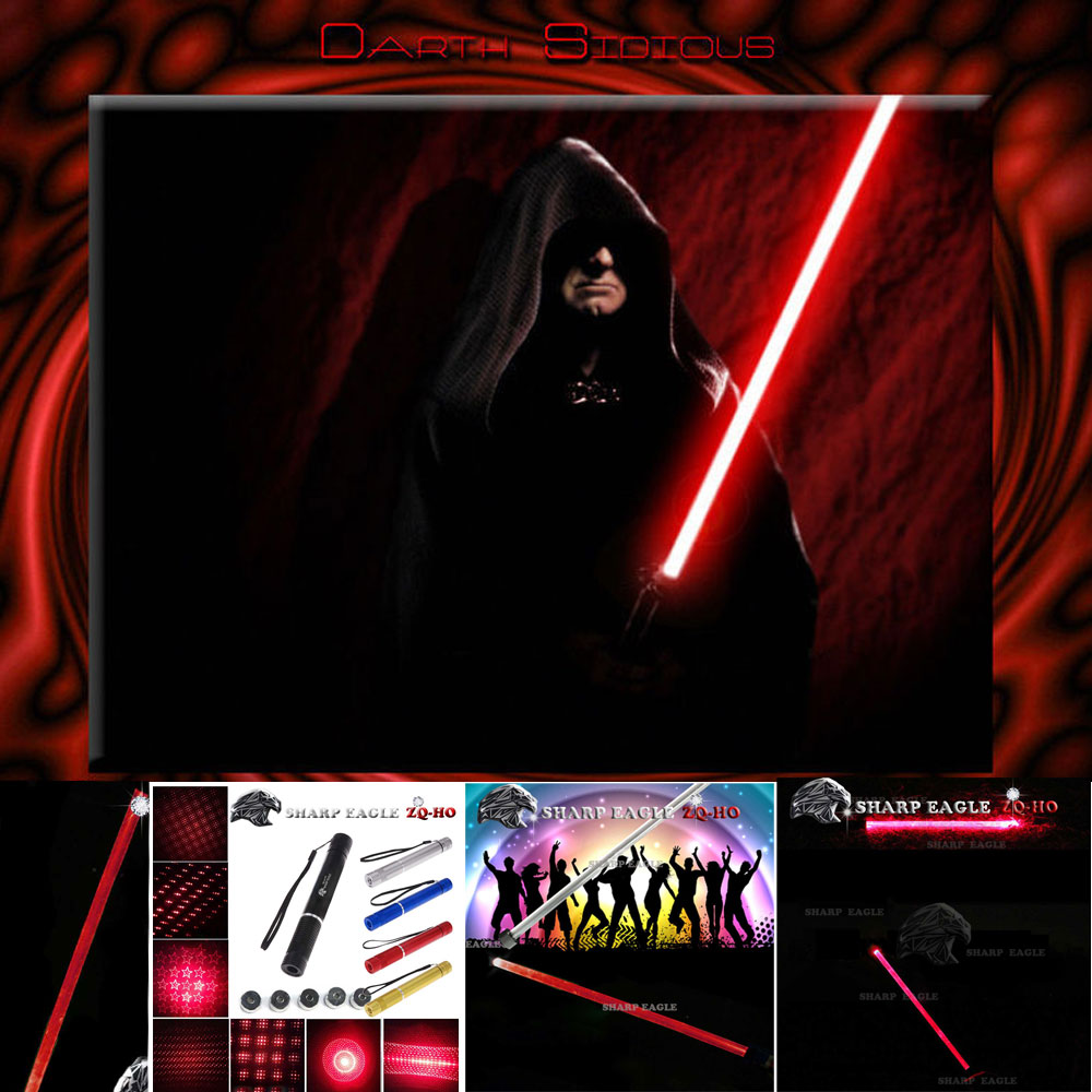 SHARP EAGLE ZQ-HO 500mW 650nm 5-in-1 Diverse Pattern Red Beam Light Multifunctional Laser Sword Kit Black