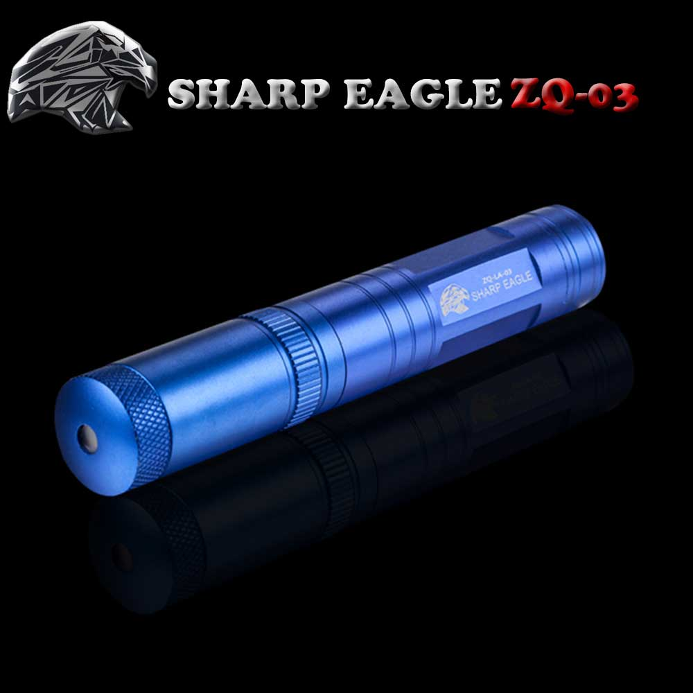 SHARP EAGLE ZQ-03 200mW 532nm Starry Sky Style Green Light Waterproof Aluminum Laser Sword Blue