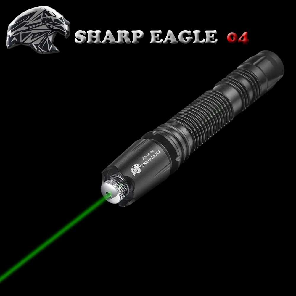 SHARP EAGLE ZQ-LA-04 200mW 532nm Starry Sky Style Green Light Waterproof Aluminum Laser Sword Black