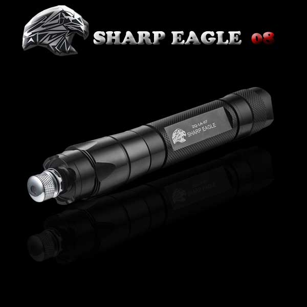 SHARP EAGLE ZQ-LA-08 200mW 532nm Starry Sky Style Green Light Aluminum Laser Pointer Cigarette & Matchstick Lighter Black
