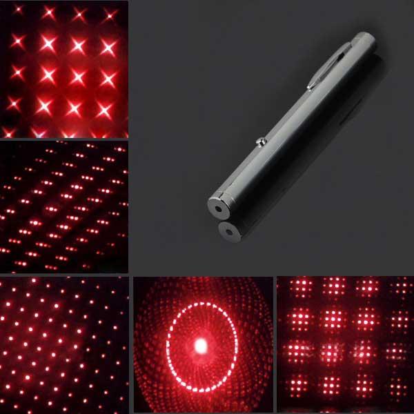 300mW 650nm New Steel Casing Kaleidoscope Starry Sky Style Purple Light Waterproof Laser Pointer Silver