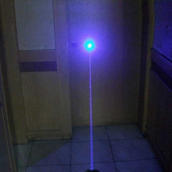 300mW 405nm luz roxa impermeável ponteiro laser aço embalagem prata