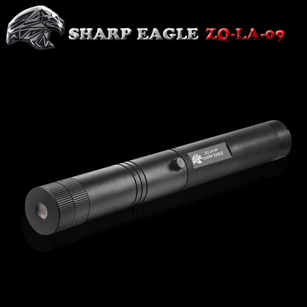SHARP EAGLE ZQ-LA-09 3-in-1 200mW 532nm/650nm Green & Red Light Starry Sky Style Aluminum Laser Pointer Black