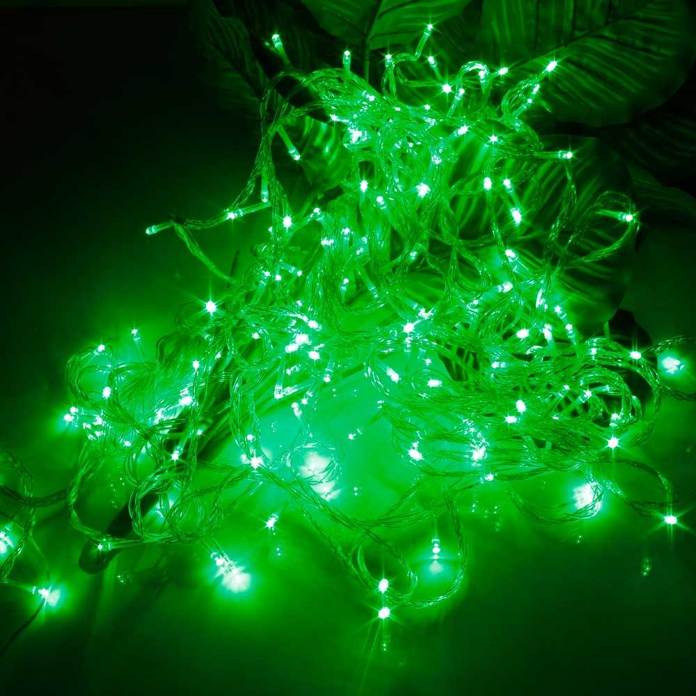 20M 200-LED Christmas Festivals Decoration 8 Working Modes Green Light Waterproof String Light (US Standard Plug)