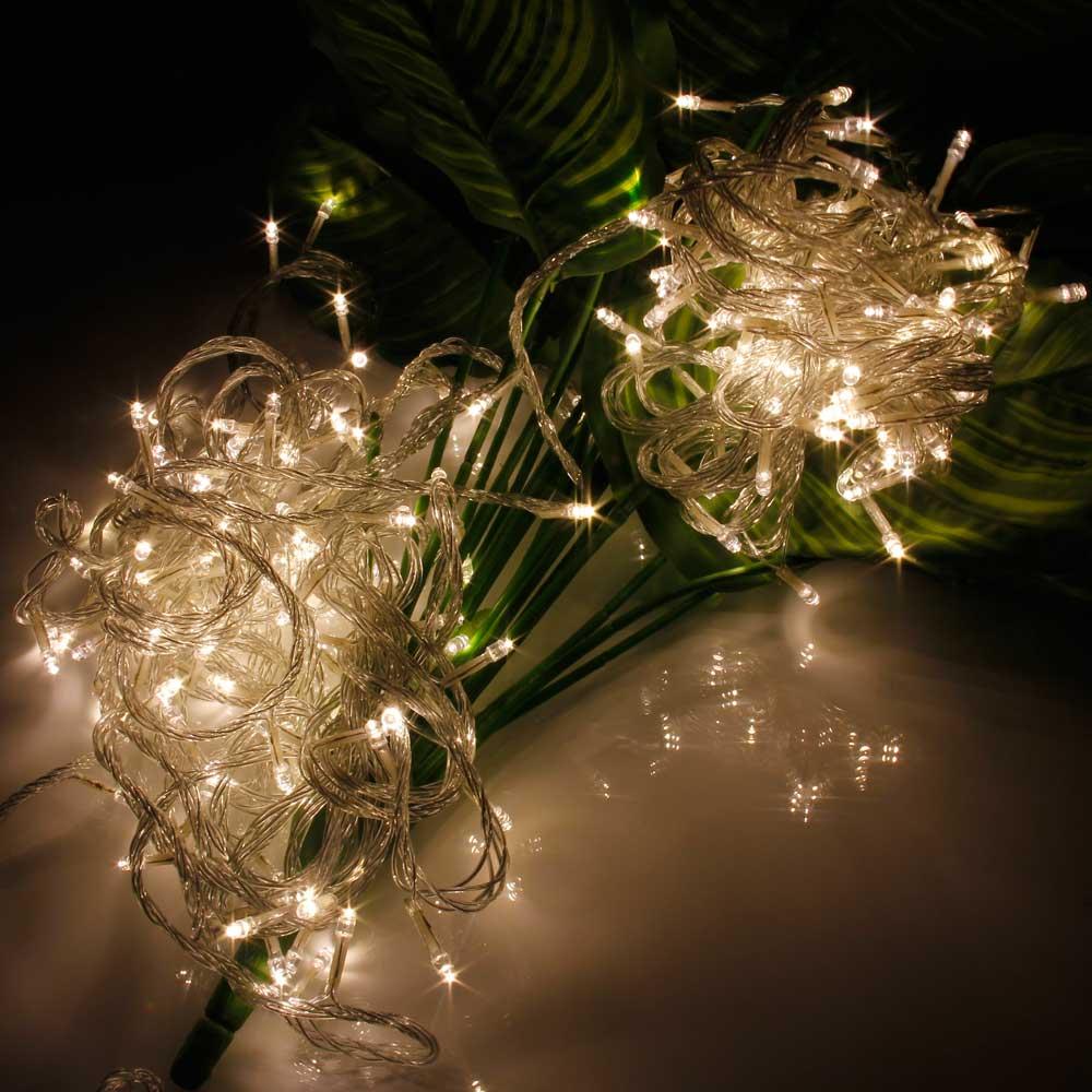20M 200-LED Christmas Festivals Decoration 8 Working Modes Warm White Light Waterproof String Light (US Standard Plug)