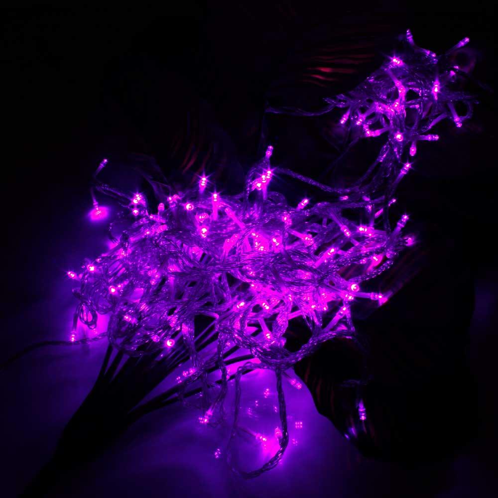 20M 200-LED Christmas Festivals Decoration 8 Working Modes Purple Light Waterproof String Light (US Standard Plug)
