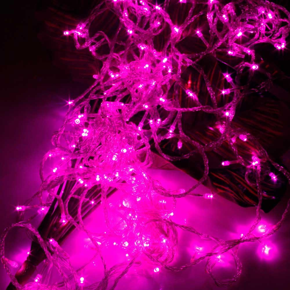 20M 200-LED Christmas Festivals Decoration 8 Working Modes Pink Light Waterproof String Light (US Standard Plug)