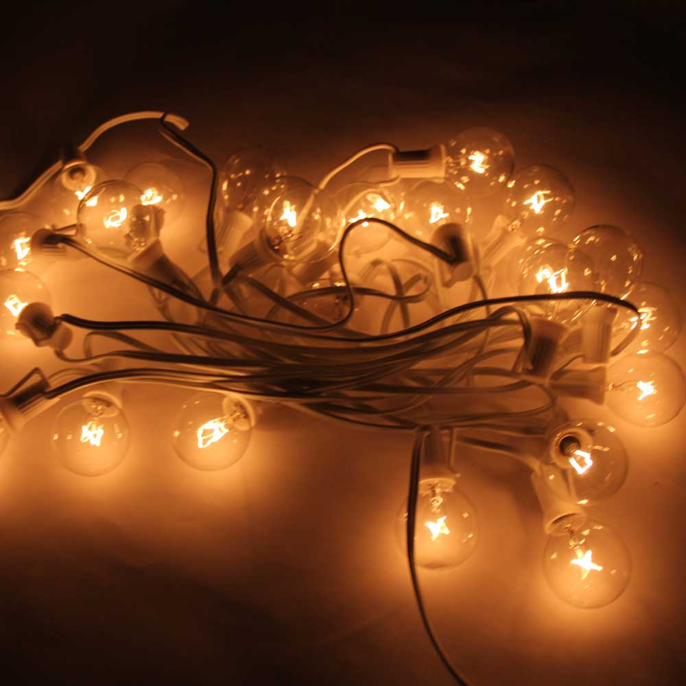 String Lights Review : Reviews of G40 25-LED Light Bulb Outdoor Yard Lamp String Light with White Lamp Wire Transparent ...