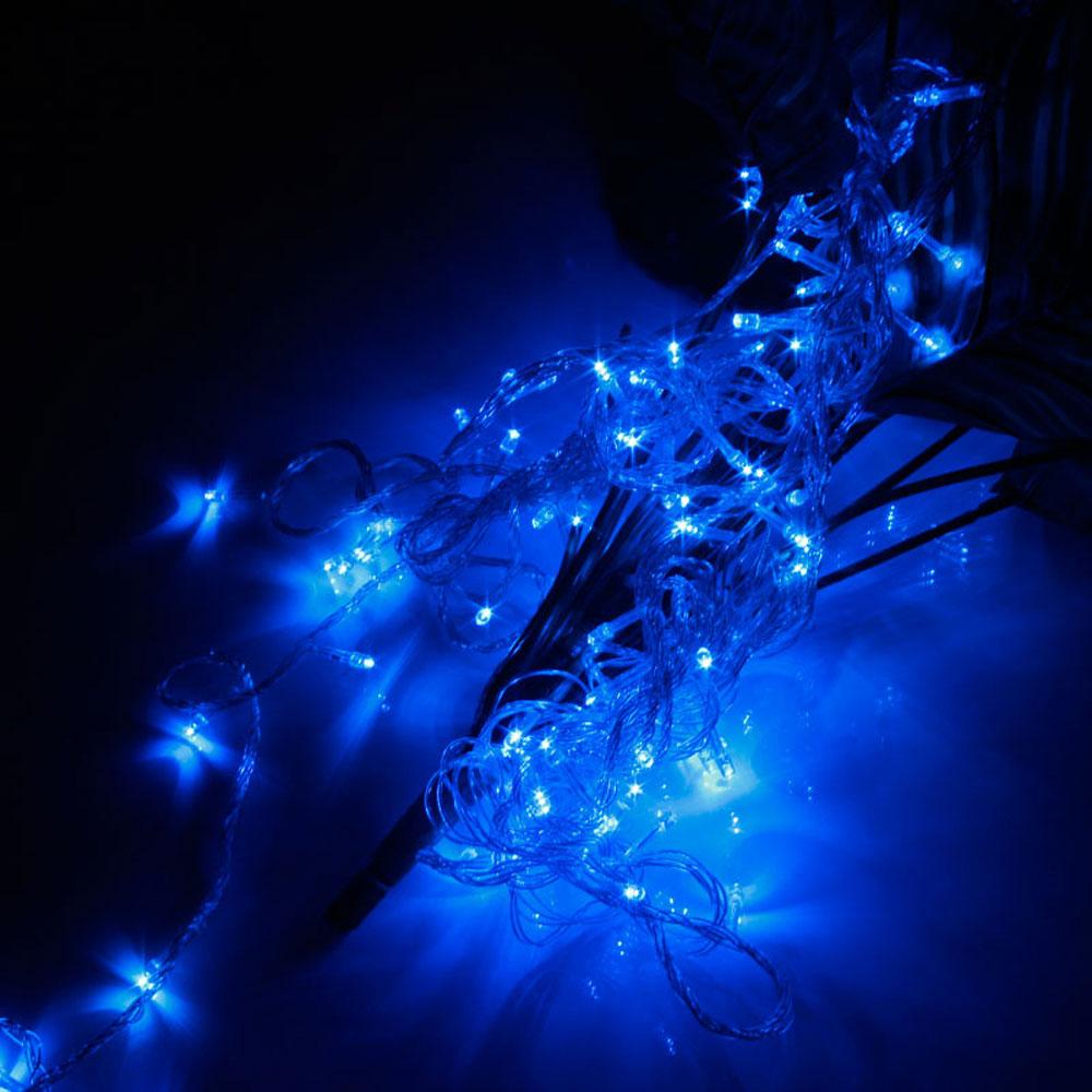 10M 100-LED Christmas Festivals Decoration 8 Working Modes Blue Light Waterproof String Light (US Standard Plug)