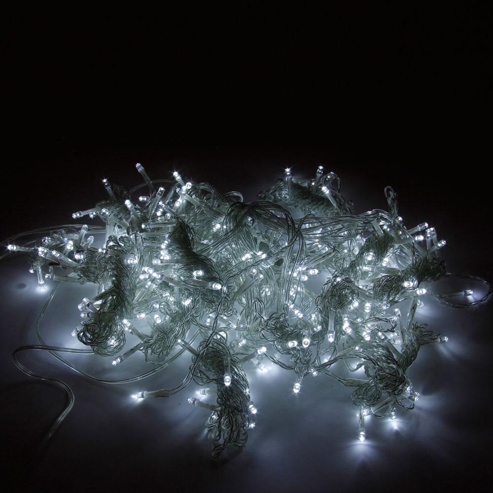 3M x 3M 300-LED White Light Romantic Christmas Wedding Outdoor Decoration Curtain String Light (110V) EU Standard Plug