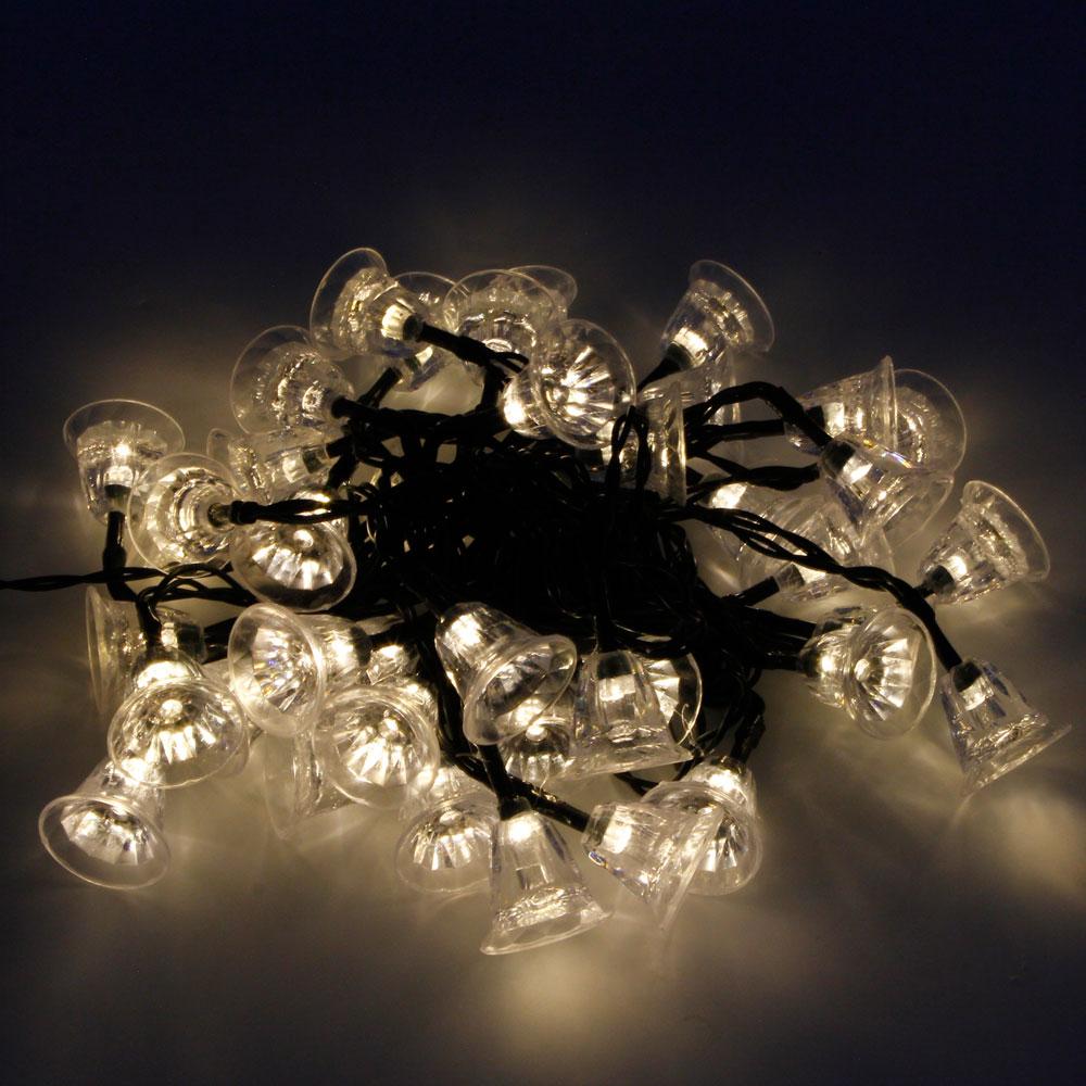 MarSwell 40-LED Warm White Light Christmas Solar Power Tinkle Bell LED String Light