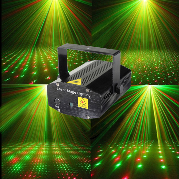 LT Fantastic Mini Starry Sky Style Green & Red Light LED Stage Light with Remote Controller (US Standard) Black