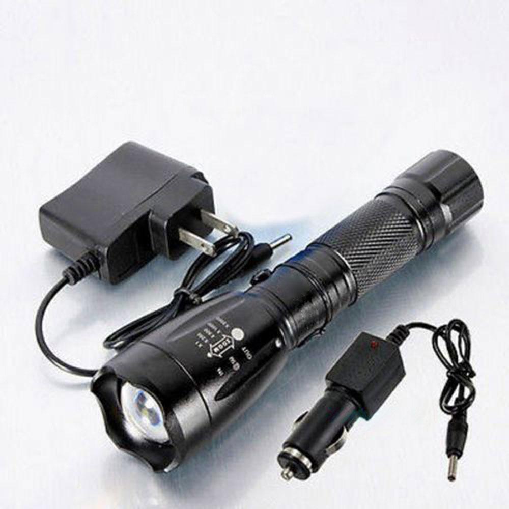 2200lm led wiederaufladbare taschenlampe mit ladeger t. Black Bedroom Furniture Sets. Home Design Ideas