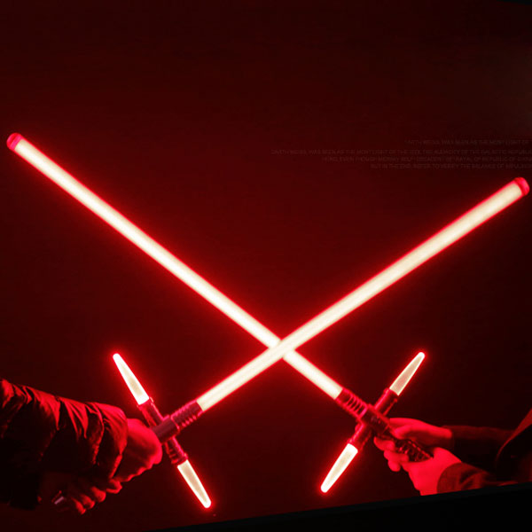 "Simulation Star Wars Cross 47"" Lightsaber Sound Effect Style Red Light Metal Laser Sword Wine Red"