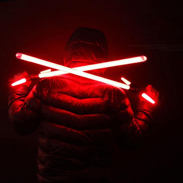 "Simulation Star Wars Cross 47"" Lightsaber Red Light Metal Laser Sword Black"