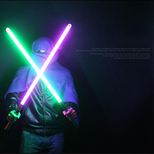 "Newfashioned No Sound Effect 39"" Star Wars Lightsaber Green Light Laser Sword Green"