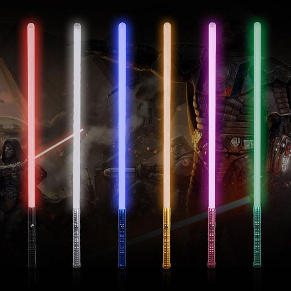"""Newfashioned No Sound Effect 39"""" Star Wars Lightsaber Red Light Laser Sword Black"""