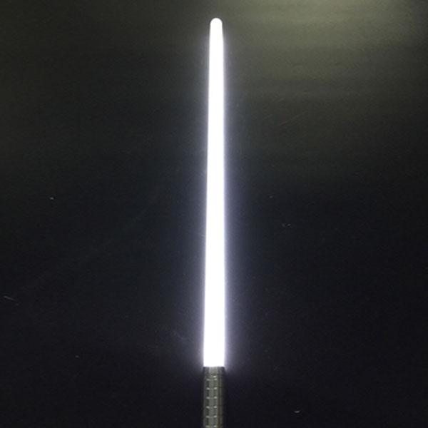 "Newfashioned Sound Effect 40"" Star Wars Lightsaber White Light Laser Sword Silver"