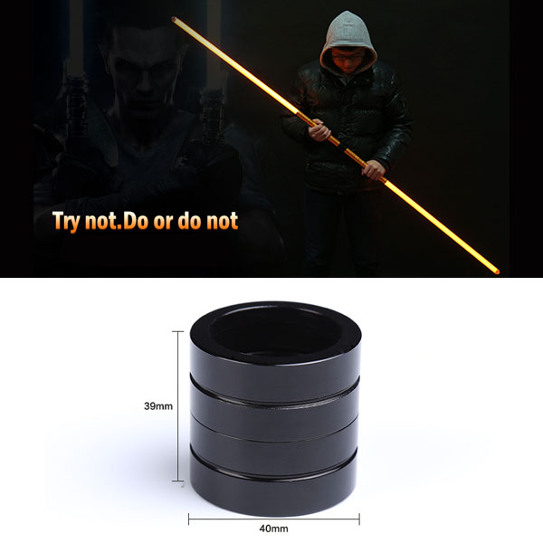 Portable Aluminum Alloy Laser Sword Connector Black