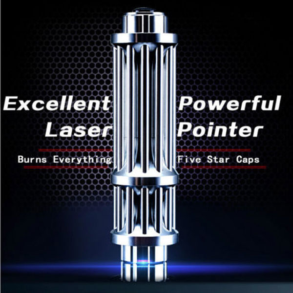 UKing ZQ-15HB 3000mW 650nm Red Beam Zoomable 5-in-1 Laser Pointer Pen Kit Plata