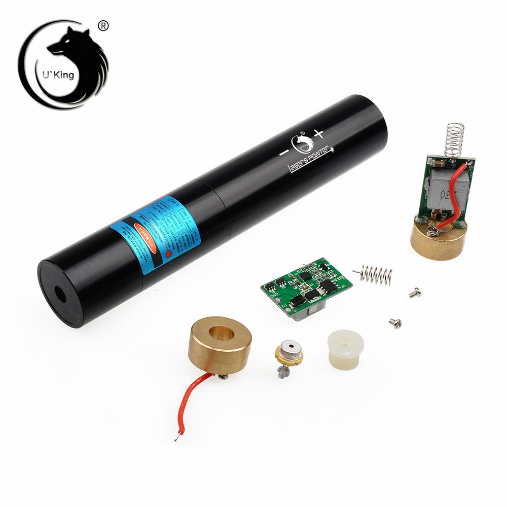 UKing ZQ-j10 30000mW 473nm Blauer Strahl Single Point Zoomable Laserpointer Kit Schwarz