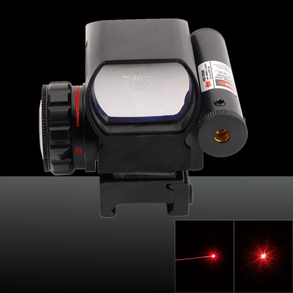 650nm Red Light Electrodeless Gear Optics 1X Magnification Aluminum Alloy Electro Laser Sight Black