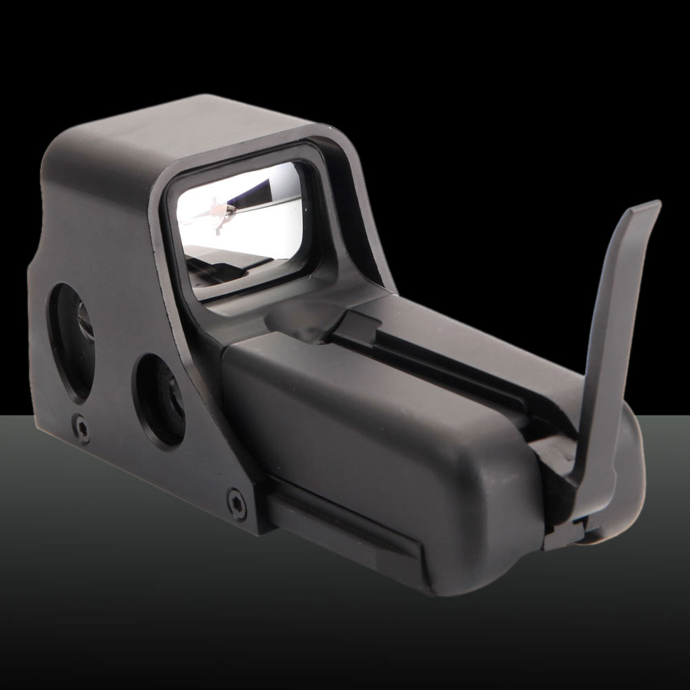 1X Optical Magnification Battery-operated Aluminum Alloy Graphic Sight Laser Sight Black