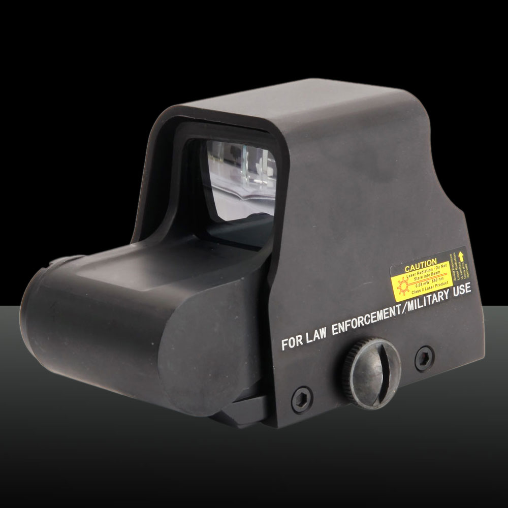 1X Optical Magnification Battery-operated Aluminum Alloy Trans Holographic Laser Sight Black
