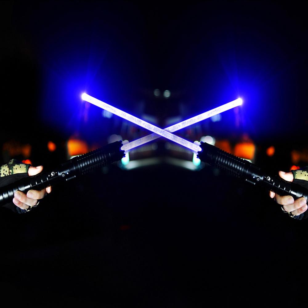 U'King ZQ-j88 10000mW 445nm Blue Beam 3-Mode Zoomable High Power Laser Sword Laser Pointer Pen Kit Black