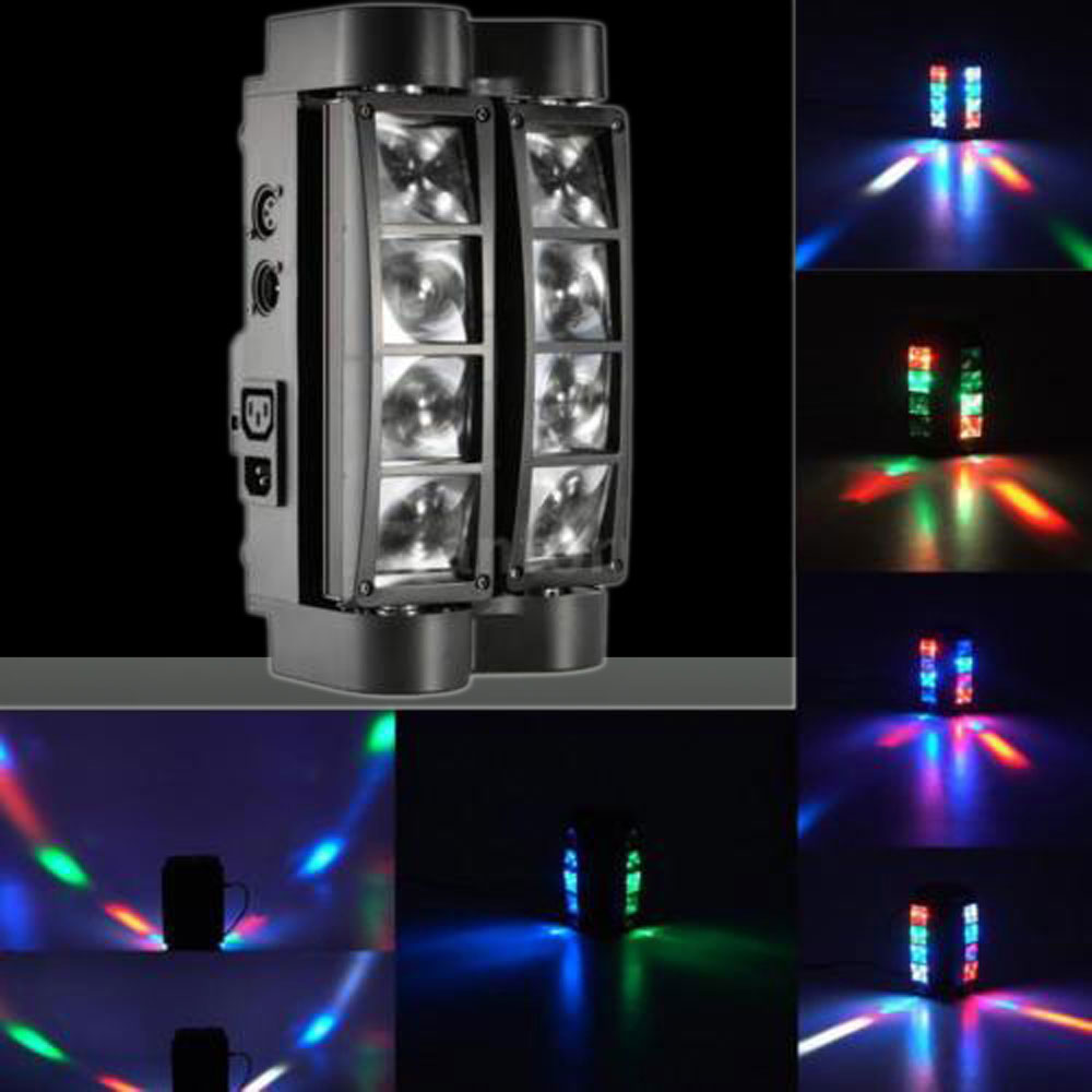 UKing ZQ-B20 60W 8-LED 4-in-1 RGBW Light Master-slave Sound Control Automatic Stage Light Black