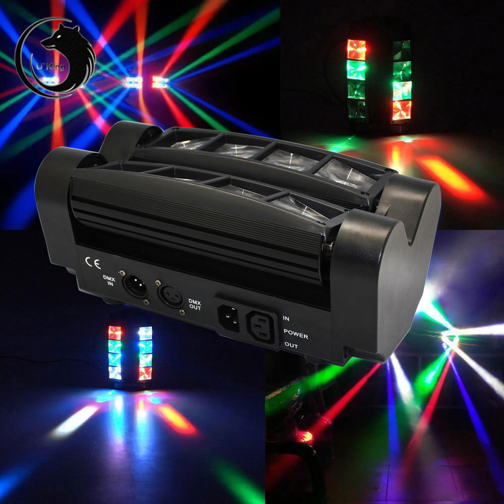 UKing ZQ-B20A 85W 8-LED 4-in-1 RGBW Light Master-slave Sound Control Automatic Stage Light Black