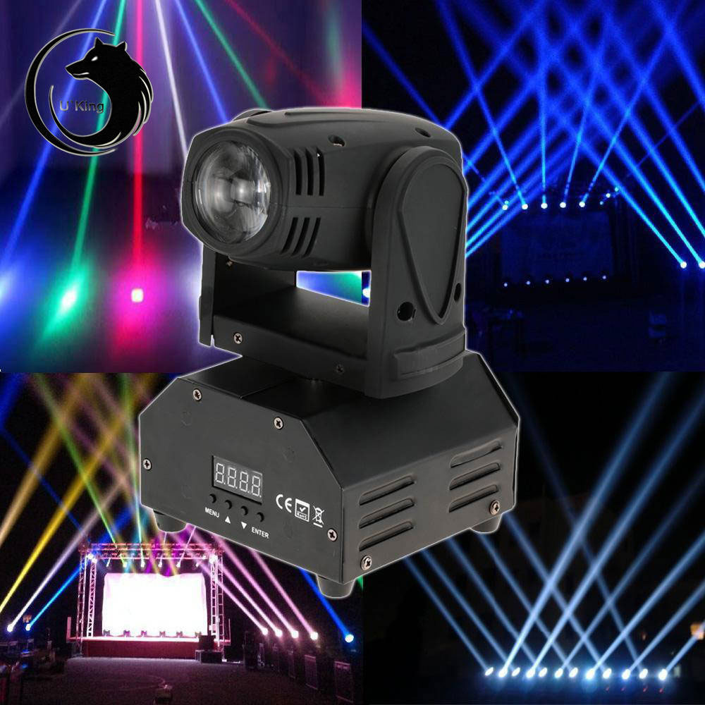 UKing ZQ-B28 10W RGBW Light Self-propelled Master-slave Voice-activated Stage Light Black
