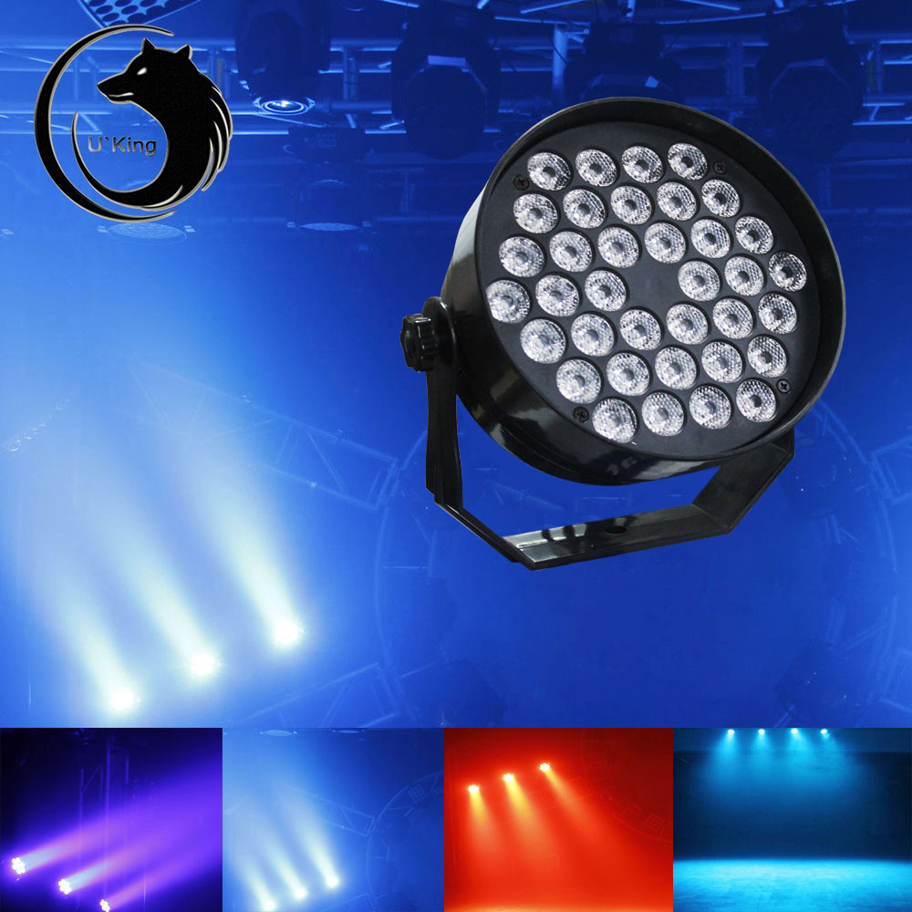 UKing ZQ-B30 36-LED RGB Single Light Self-propelled Master-slave Voice-activated Stage Light Black