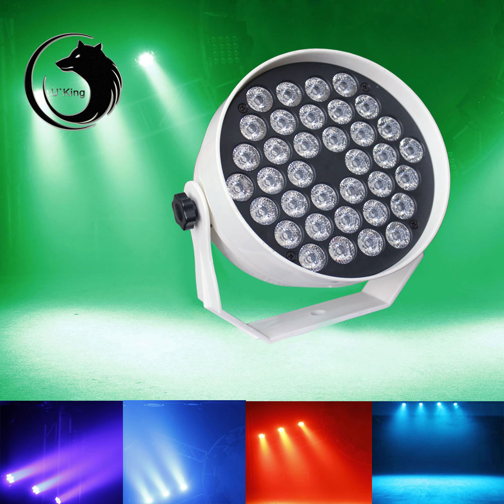 UKing ZQ-B30 36-LED RGB Single Light Self-propelled Master-slave Voice-activated Stage Light White