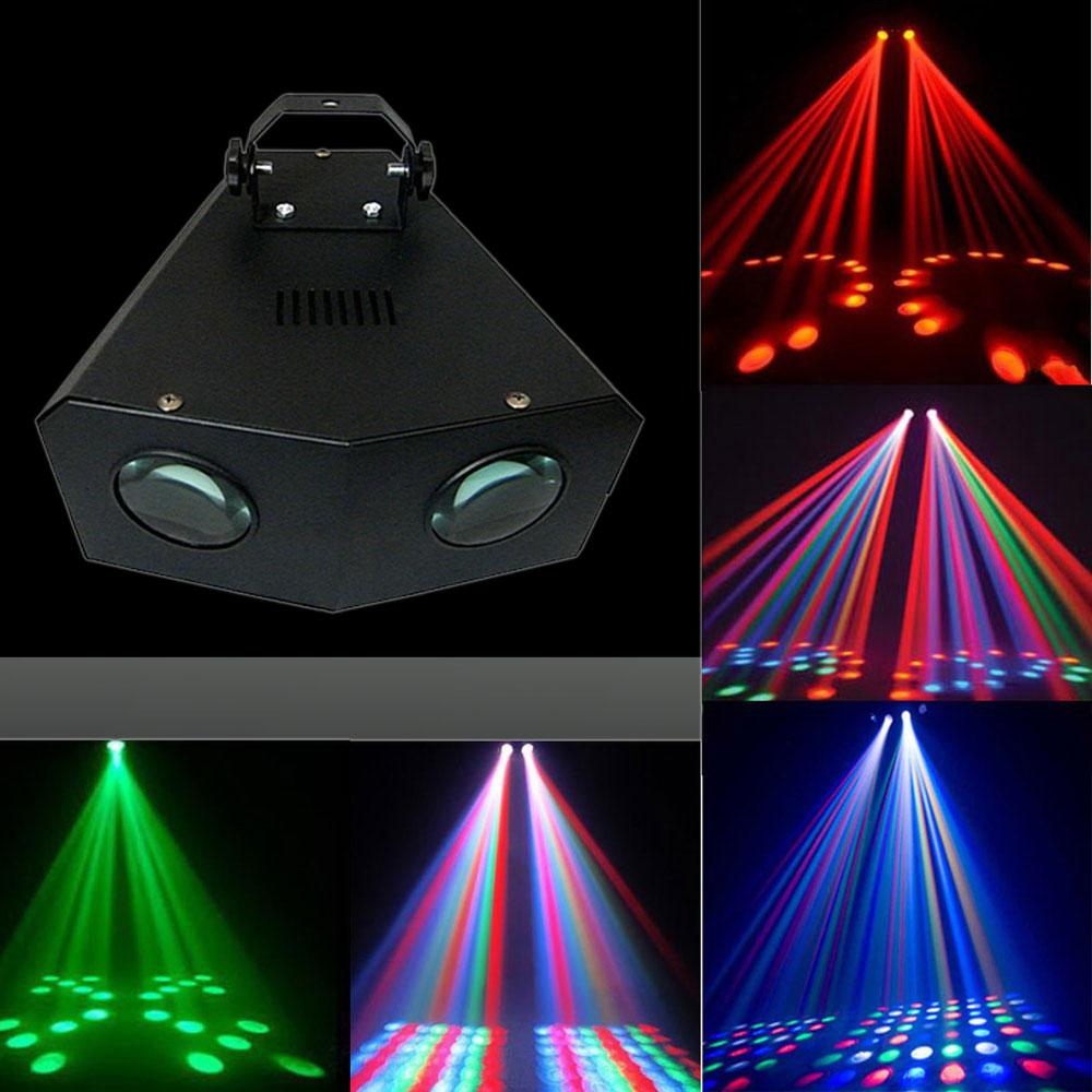 UKing ZQ-B32 128 Beads 16 Kinds of Pattern Self-propelled DMX512 LED Stage Light Black