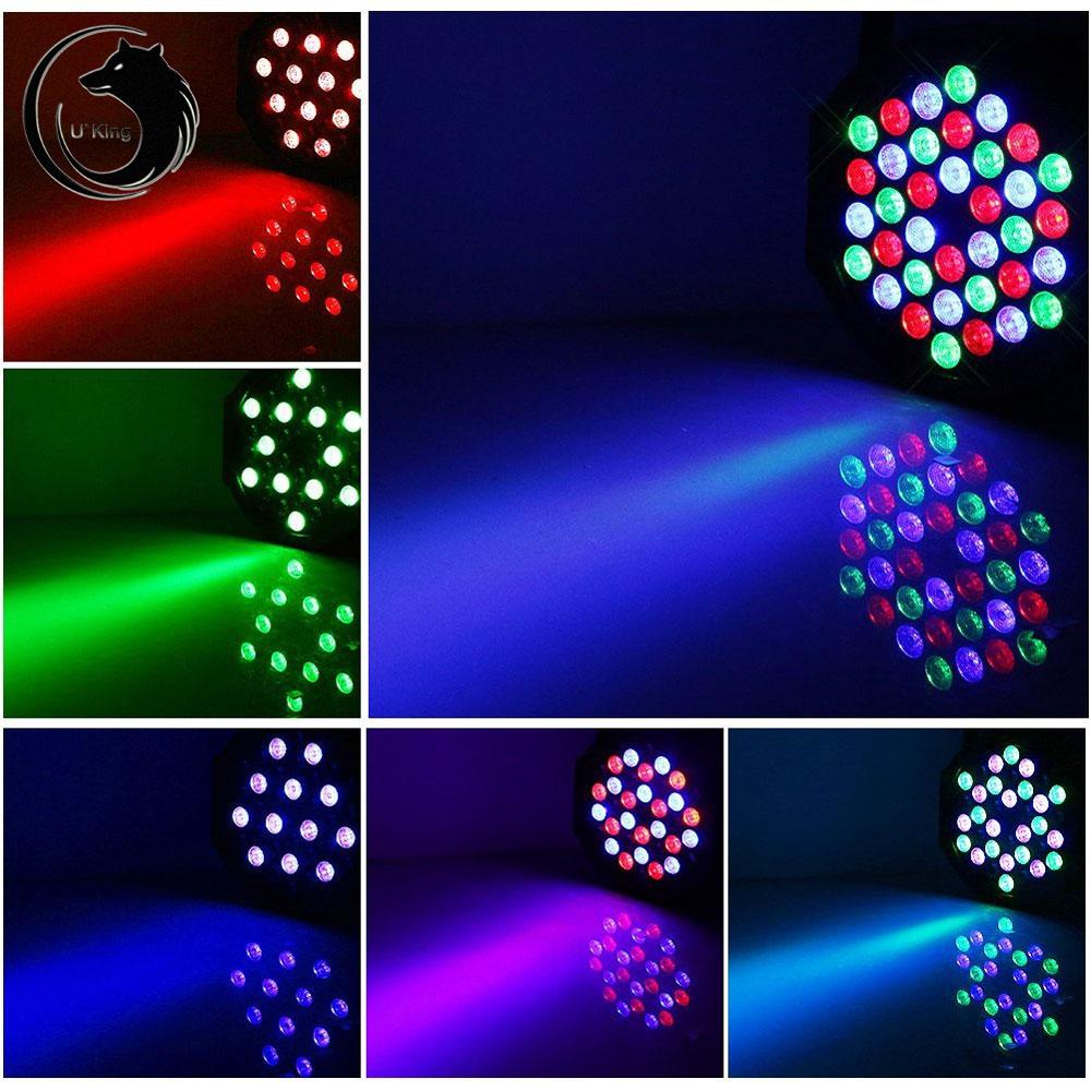 UKing ZQ-B53B 80W 36-LED 3-in-1 RGB Light Auto Strobe Sound Control DMX-512 Remote Control Stage Light Black