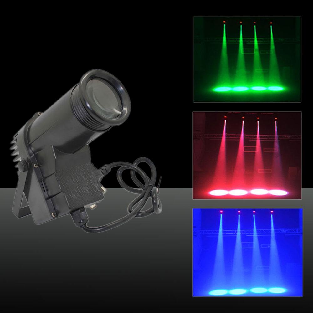 30W Multicolored Light 3 Control Modes Mini LED Stage Lamp EU Plug Black