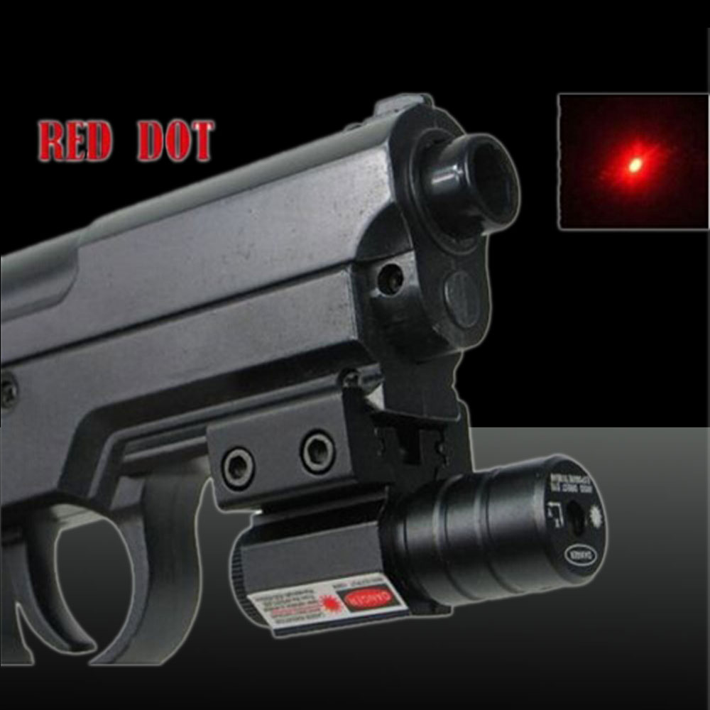 U `King ZQ-8812 650nm 100mW luz vermelha Laser Sight Kit Preto
