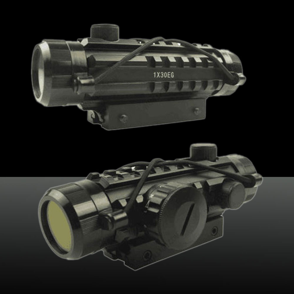 U`King ZQ-MZ02 Aluminum Red & Green Dot Reflex Laser Sight Set for Hunting Black