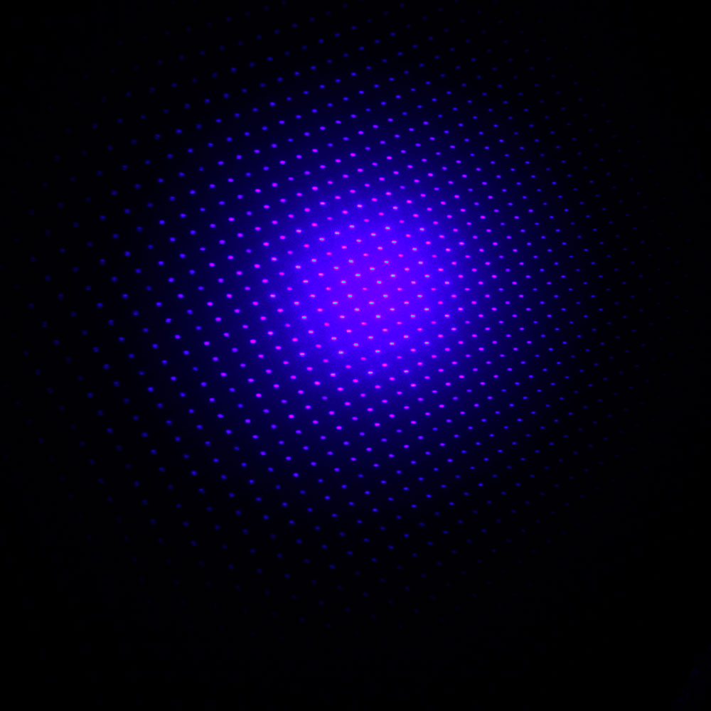 10000mW 450nm 5-en-1 Blue Beam Light Láser Puntero Lápiz Kit Negro