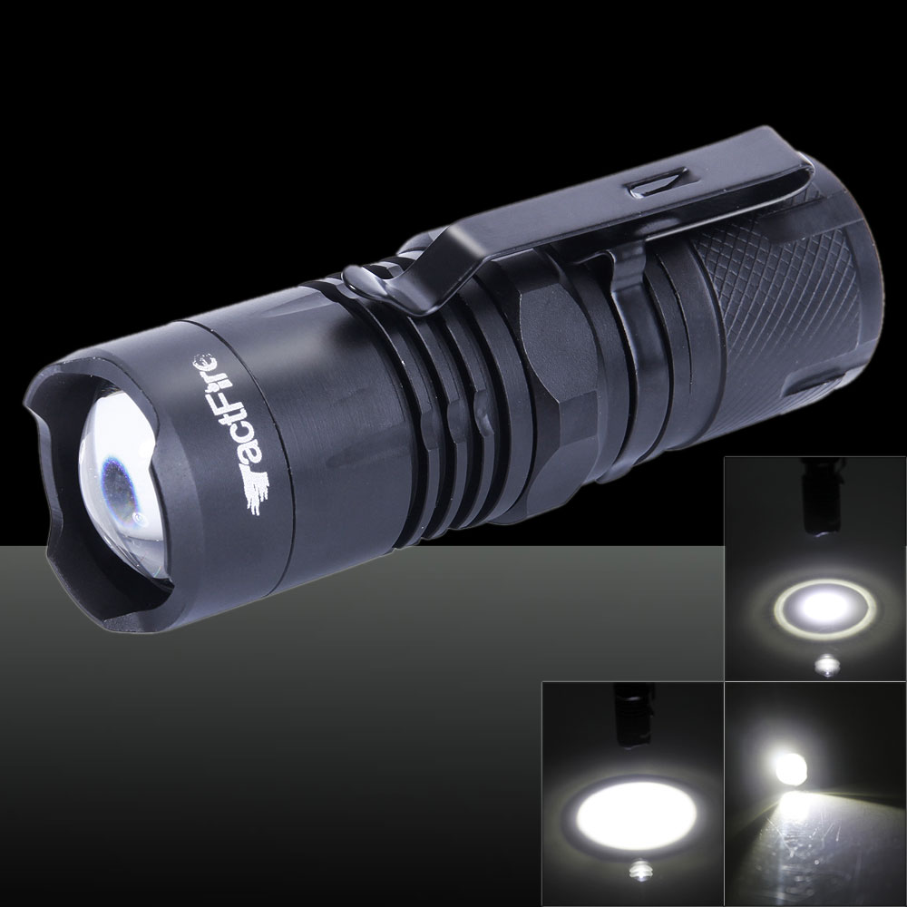 Tactfire XML-T6 1 x LED 4-Mode Focusing Stretchable Flashlight with Luminous Display Black