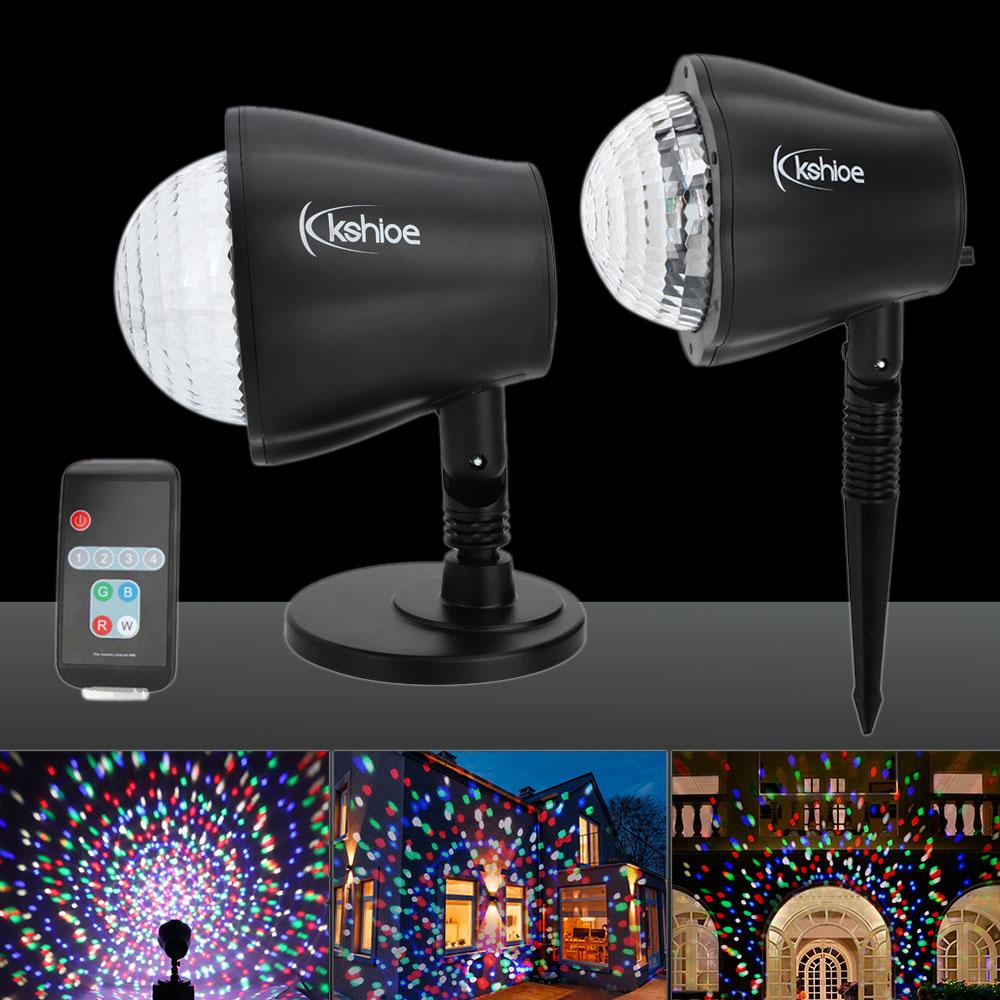 Kshioe LED Christmas Decoration Outdoor Landscape Lawn Lamp US Plug RGBW Light