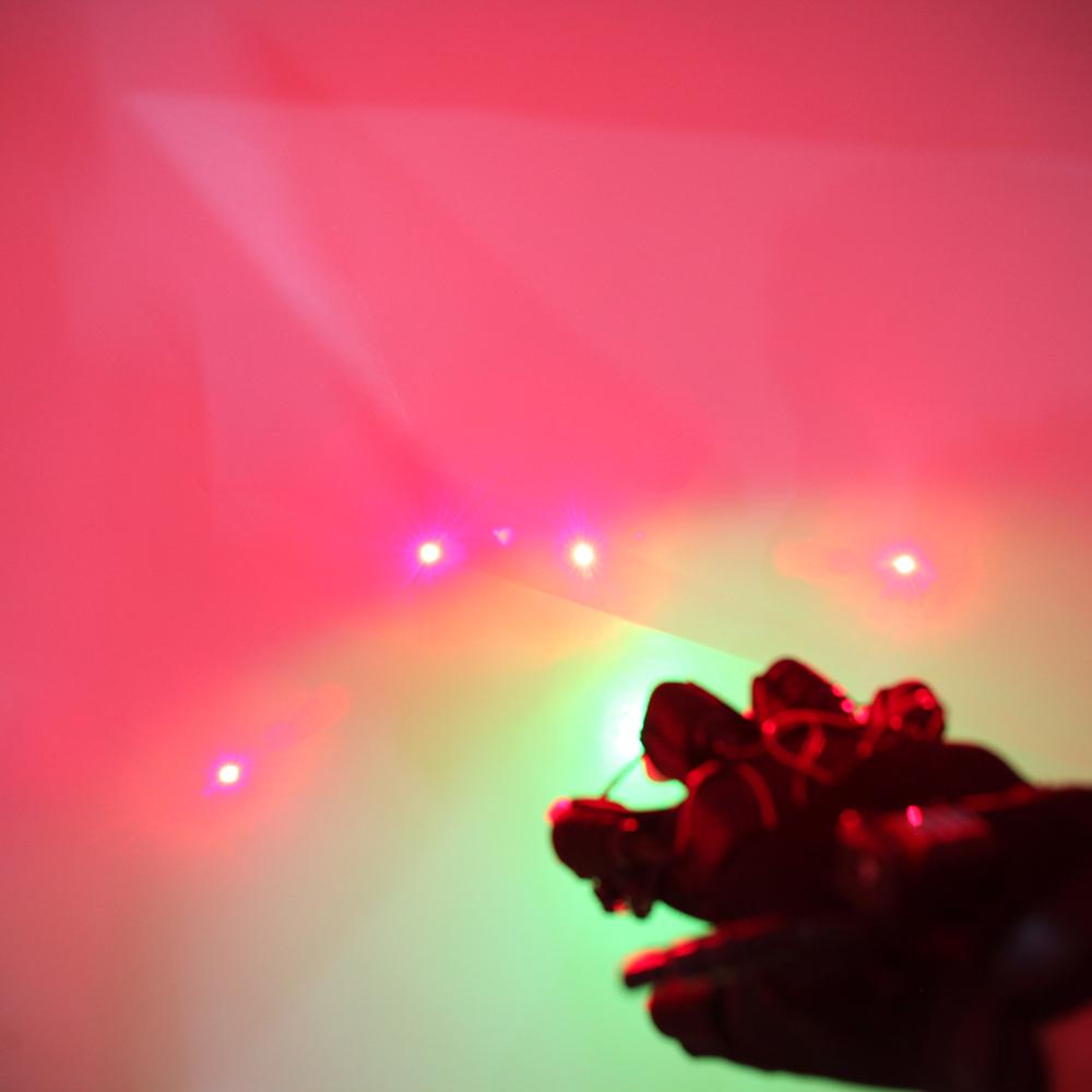 Glove Laser Light 4 Red Light Head with Palm Light Black