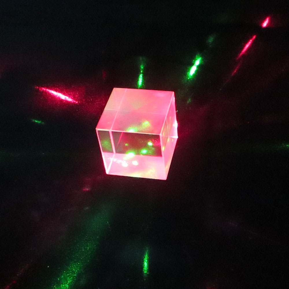 25mm Optical Glass Cube Prism RGB Combiner Splitter Glass