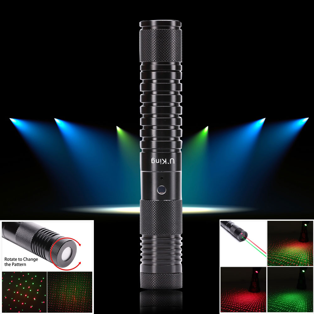 UKing ZQ-J32 500mw 532nm & 650nm double light 5 in 1 USB Laser Pointer
