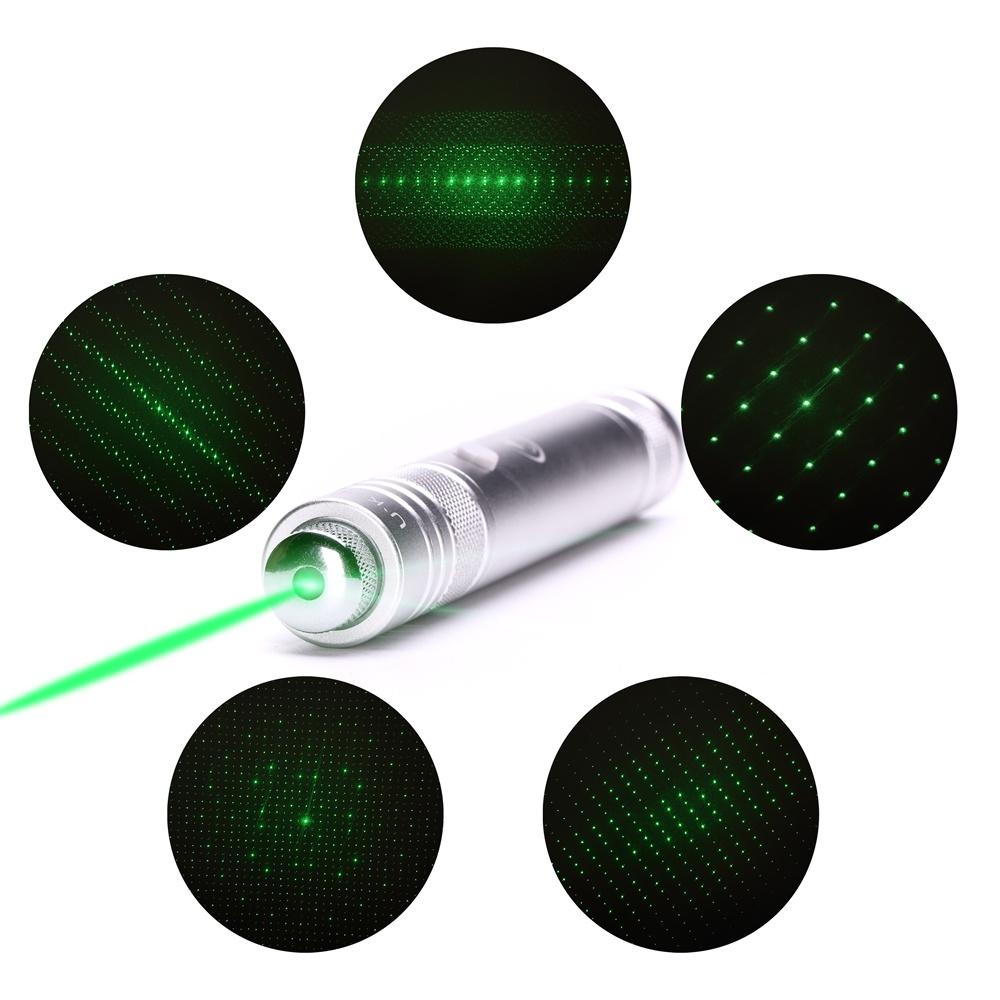 UKing ZQ-J36 200mw 532nm 5 em 1 ponteiro laser USB