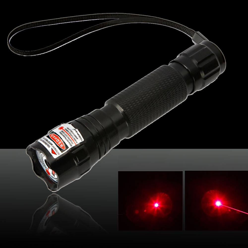 300mW 650nm Open-back Red Laser Pointer Pen Black(501B-type)